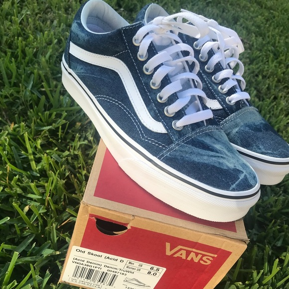 vans acid denim